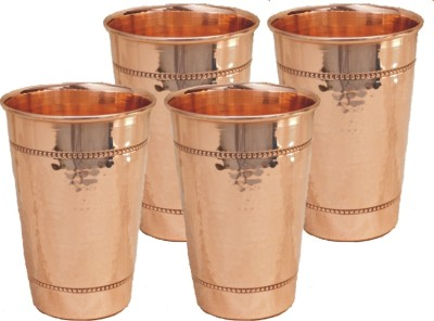 Veda Home   Lifestyle  Pack of 4  GLST163 Glass Set 1600 ml, Copper Veda Home   Lifestyle Glasses