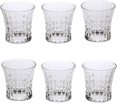 Somil Somil Stylish Shape Self Designer Multipurpose Glass Design No-AZ17 Set Of 6 Glass Set(Glass, 260 ml, Clear, Pack of 6) at flipkart