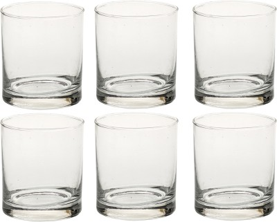 Bloom Multipurpose Designer Look Transparant Four Glass Set No_DN43 Glass Set(Glass, 330 ml, Clear, Pack of 6) at flipkart