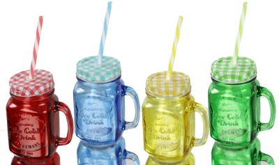 Armanndesigns Glass Set(470 ml, Red, Blue, Yellow, Green, Pack of 4) at flipkart