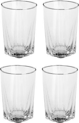 Somil Glass Set(330 ml, Clear, Pack of 4) at flipkart