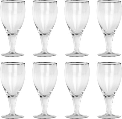 Somil Multi Purpose Party Designer Glass Set_098752 Glass Set(Glass, 330 ml, Clear, Pack of 6) at flipkart