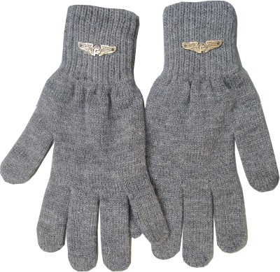 Gajraj Woollen Solid Winter Men Gloves