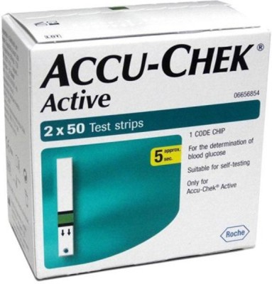 ACCU-CHEK 100 Glucometer Strips  available at flipkart for Rs.1409