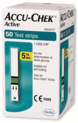 Accu-Chek 50 Glucometer Strips  available at flipkart for Rs.780