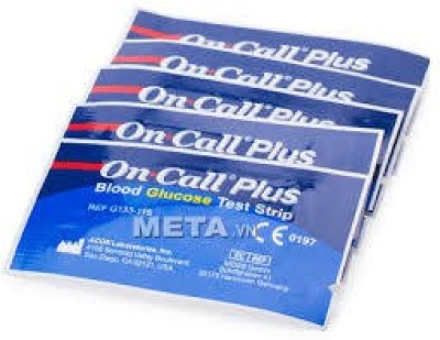 Oncall Plus 100 Glucometer Strips