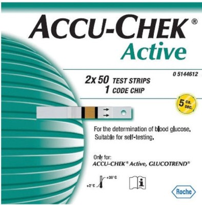 Active 100 Glucometer Strips