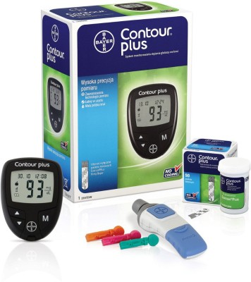 Bayer Contour Plus (Free 10 Strips) Glucometer(Black)