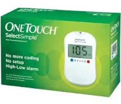 Johnson & Johnson One Touch SelectSimple Glucometer(White)