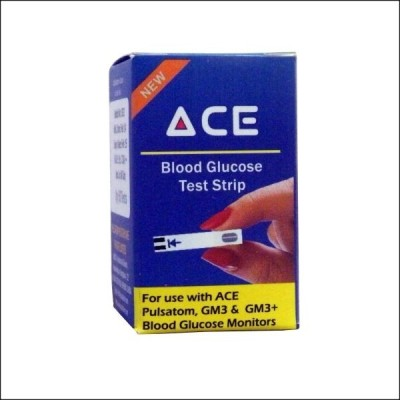 Ace Blood Glucose Test Strips Pack of 50 Glucometer(White)
