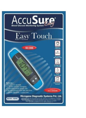 AccuSure Accusure Easy Touch Glucometer(Blue, Black)