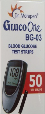 Dr. Morepen BG-03 Blood Glucose Monitoring- 50 Test Strips'Only', 'No' Glucometer(Black)  available at flipkart for Rs.572