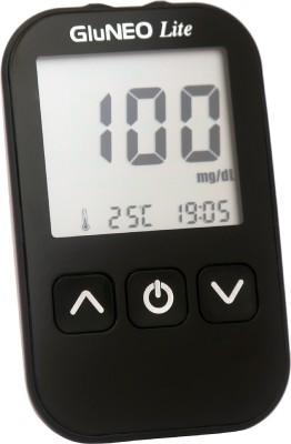Infopia GluNEO Lite Blood Glucose Monitoring system. 5 seconds result Glucometer Glucometer(Black)