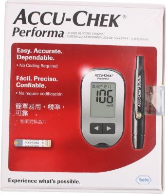 ACCU-CHEK Performa Glucometer(Off Siliver)