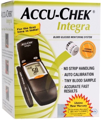 ACCU-CHEK Integra Glucose Moitor with Test Roll Glucometer(Black)