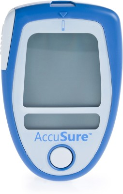 AccuSure Free 50 Strips Glucometer(Blue, White)