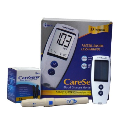 Caresens Easy Gluco Check Glucometer(White)