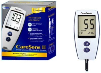 Caresens Safe Check Glocose Monitor Glucometer(White)