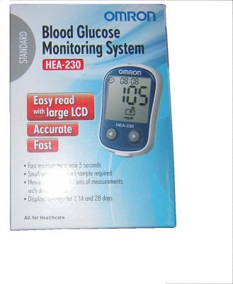 Omron Blood Glucose Moniter Glucometer(Black)