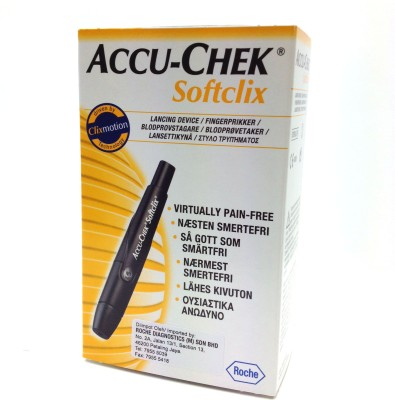 Accu-Chek Softclix Glucometer(Grey)  available at flipkart for Rs.425