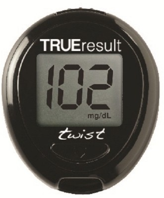 Nipro Trueresult Twist Kit With 50 Strips 10 Lancets And One Lancing Device Glucometer(Black)