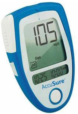 AccuSure Glucose Monitor with 35 Strips Glucometer(Blue)
