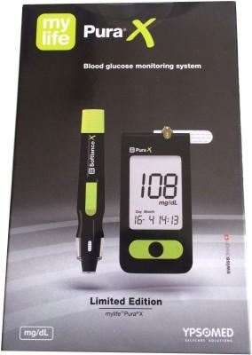 Mylife Pura X Blood Glucos Monitoring System Glucometer(Black)