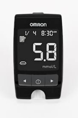 OMRON HGM-112 Glucometer(Black)  available at flipkart for Rs.1075