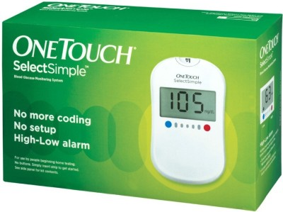Johnson & Johnson One Touch select simple Glucometer(White)