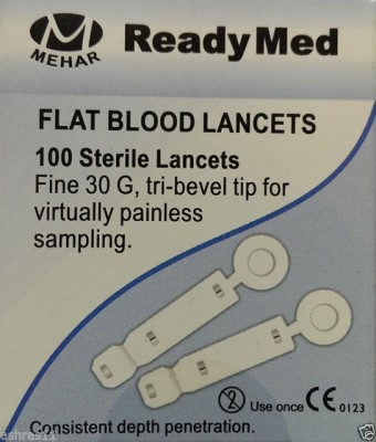 Readymed Flat Lancet Glucometer(White)