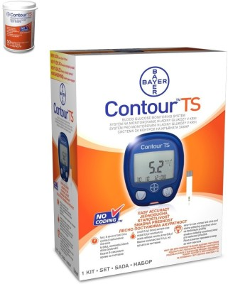 Bayer Contour TS Kit with 50 strips Glucometer(Blue)
