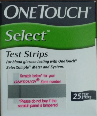 Johnson & Johnson One Touch-Select Simple 25's Test Strips Glucometer(Green)