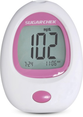Wockhardt Sugarchek With 15 Test Strips Glucometer(Pink, White)