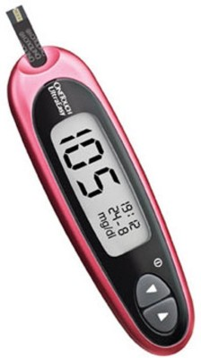 One Touch UltraEasy with 10 strips free Glucometer(Pink)