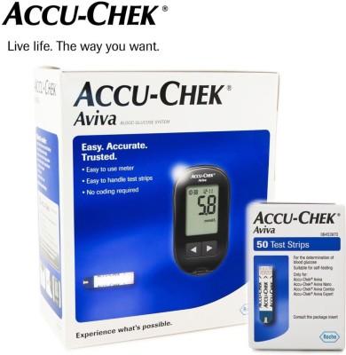 Accu-Chek Aviva Glucometer(Purple)
