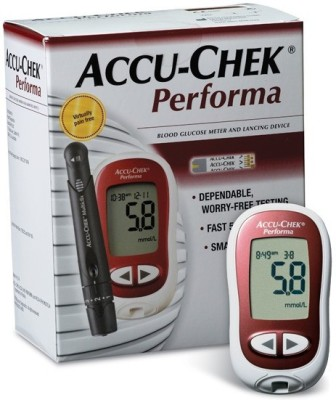 Accu-Chek Performa Blood Glucose Monitor Glucometer(Maroon)