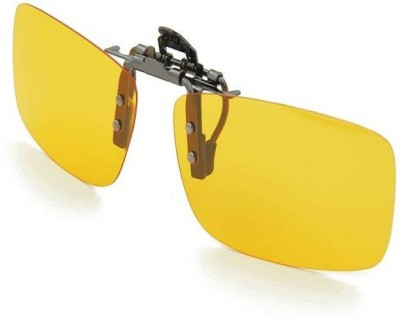 8282ace677 17% OFF on Kawachi Night Vision Polarized Clip-on Motorcycle Goggles(Yellow)  on Flipkart
