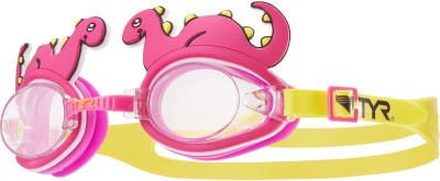 TYR Kids Charactyrs Dino Diva Swimming Goggles Pink, Yellow TYR Swimming Goggles