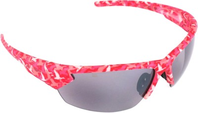 Vast Sport Wrap Around Polycarbonate Cricket Goggles(Pink)