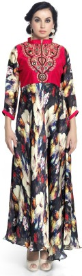 Admyrin Anarkali Gown(Multicolor) at flipkart