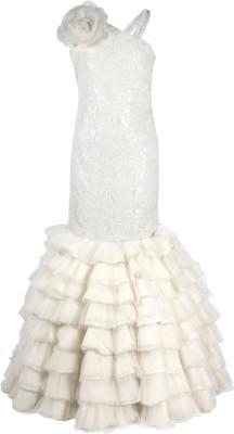 Cutecumber Ball Gown(White) at flipkart