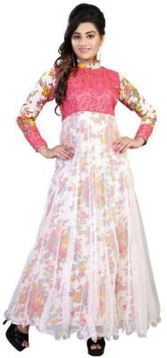 Shreeji Designer Anarkali Gown(Multicolor)