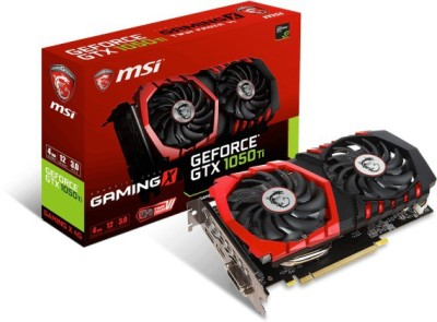 Msi NVIDIA GTX 1050 Ti GAMING X 4G 4 GB GDDR5 Graphics Card(Red and black)