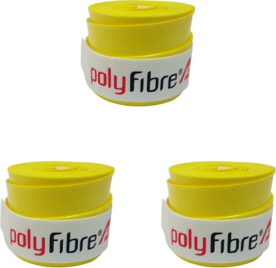 Polyfibre Omni Set Of 3 Smooth Tacky  Grip(Yellow, Pack of 3)