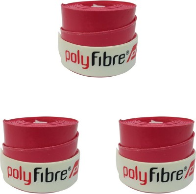 Polyfibre Omni Set Of 3 Smooth Tacky Red, Pack of 3 Polyfibre Tennis Racquet Grips