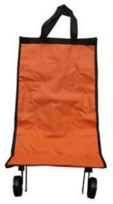 Shrih :Folding Shopping Trolley Bag With Handle(Orange)  available at flipkart for Rs.2049