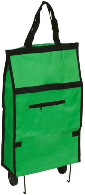 Shrih Collapsible Folding Shopping Trolley Bag(Green)  available at flipkart for Rs.1899