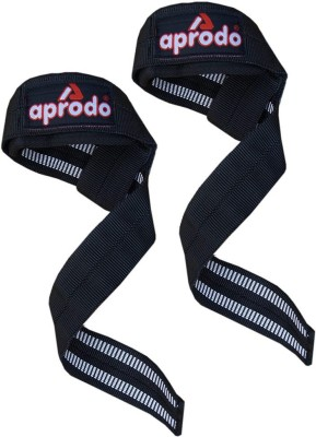 APRODO Weight Lifting Strap Padded Non Flip Grip Wrist Support Black