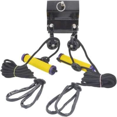ACM ACM Acupressure Yoga Gym rope exerciser  Black, Yellow  Resistance Band