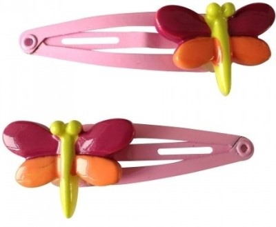 NeedyBee Butterfly Pack of Two Baby SnaP Hair Clip(Pink) Flipkart